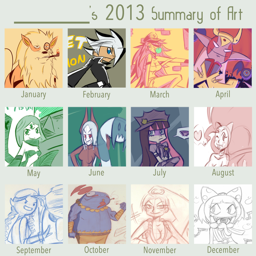 2013 Art Summary by NiNoZaP0
