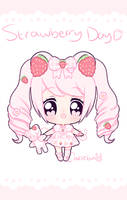 Set Price Strawberry Day Fluffian Adopt [CLOSED] by Cakiiebun