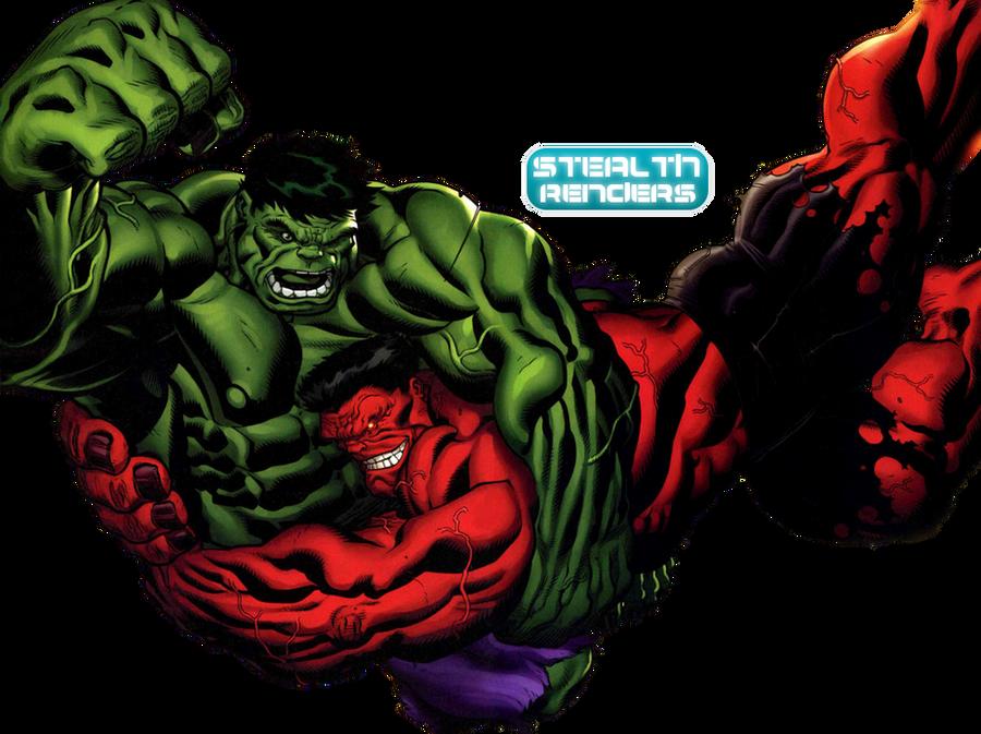 Green Hulk Vs. Red Hulk render by Stealth14 on DeviantArt