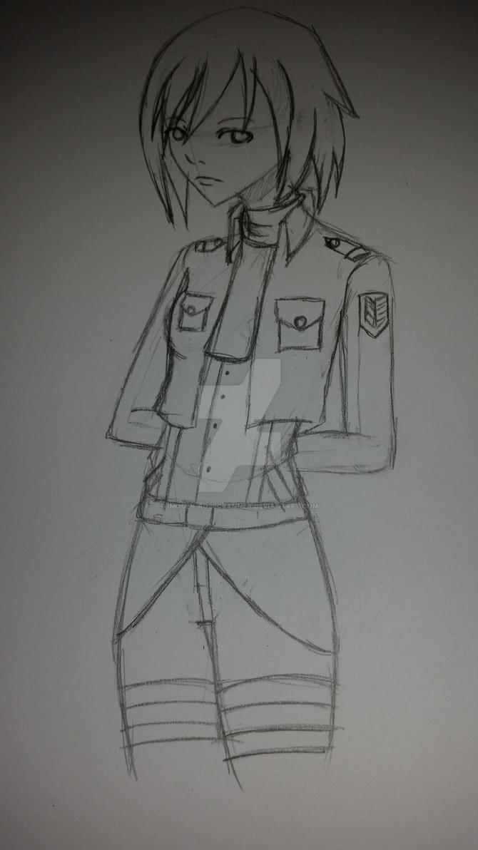 sketch a day 2 fan art mikasa