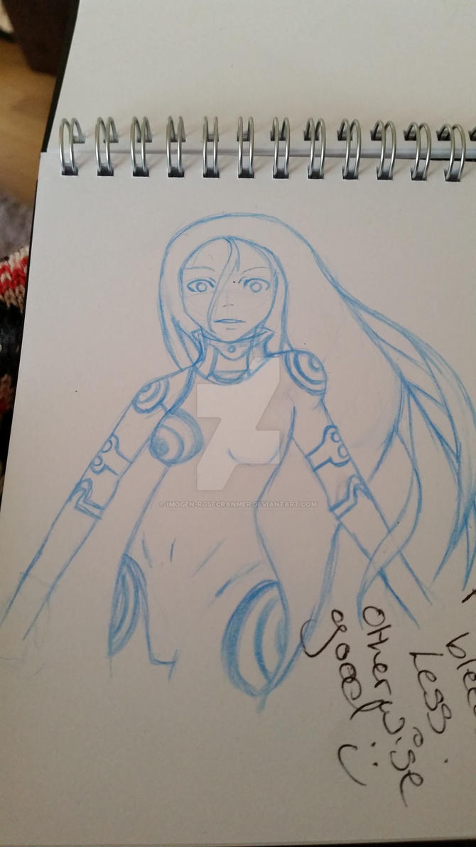 sketch fan art shiro