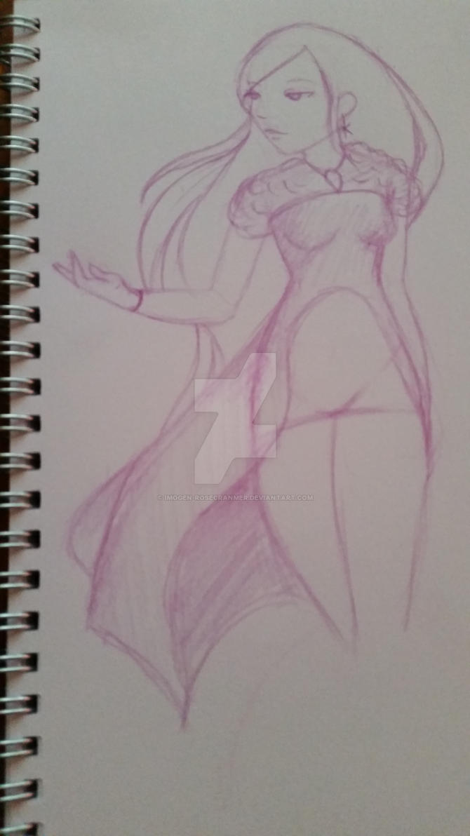 sketch a day 6 redrawing the snow queen