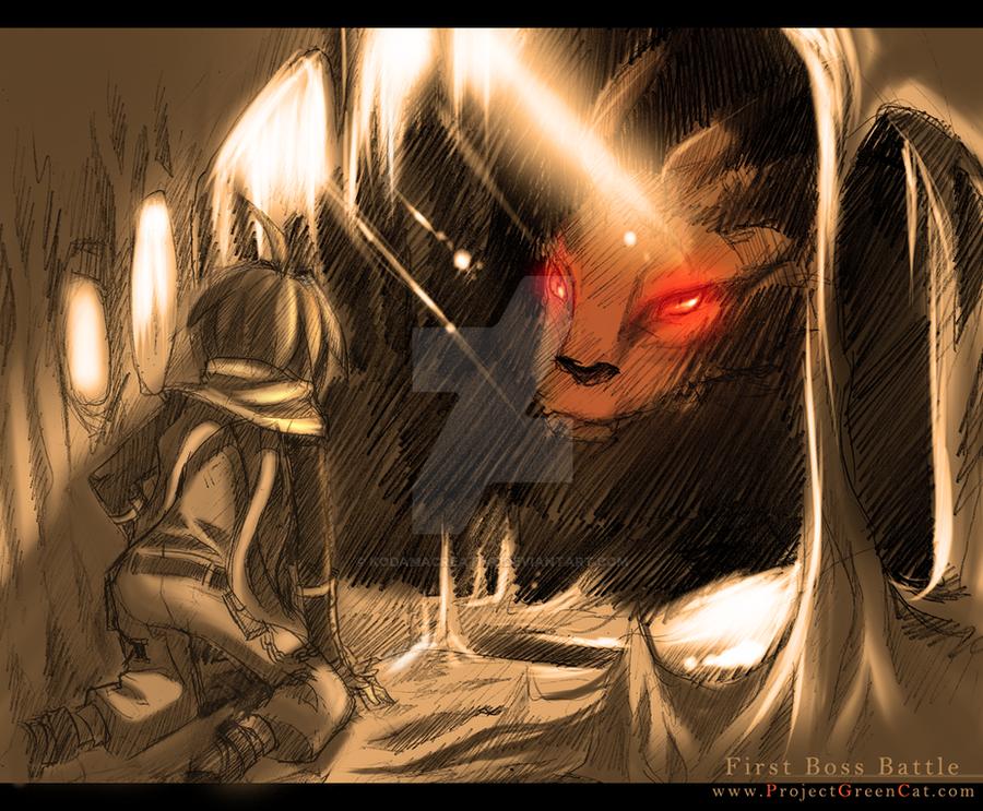 Commission: First Boss Battle by KodamaCreative