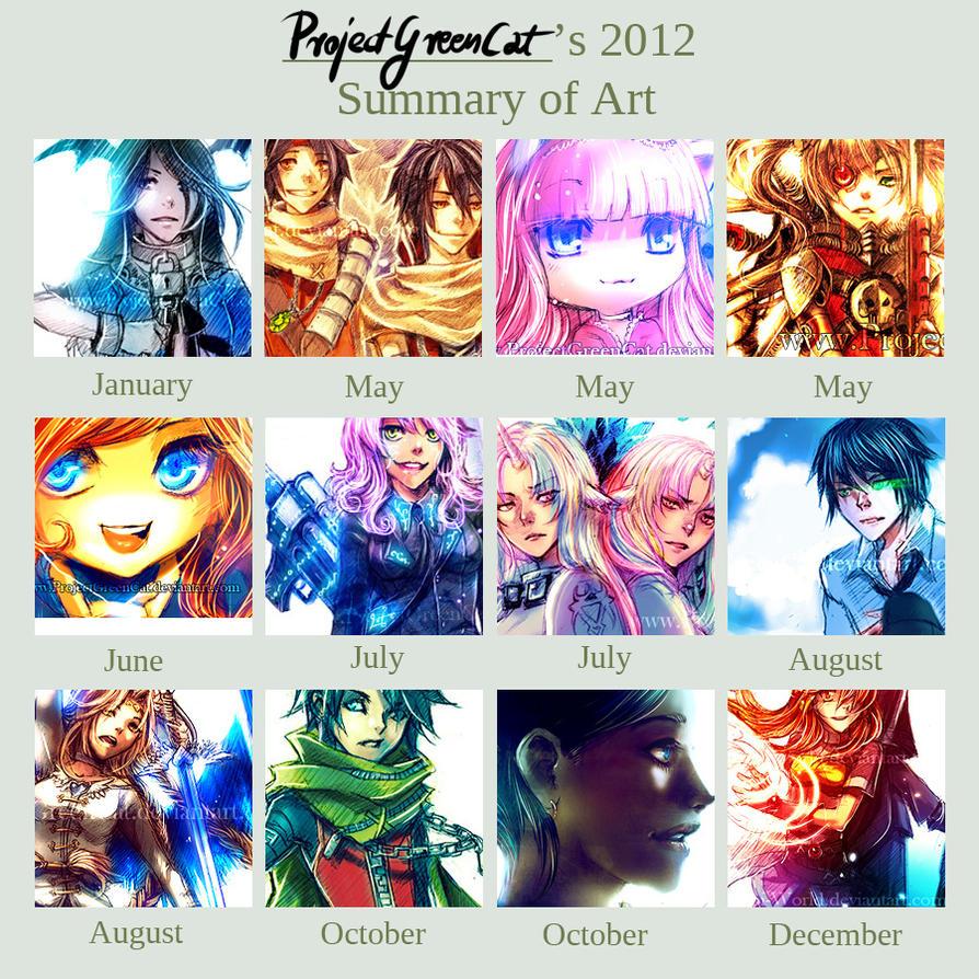ProjectGreenCat's 2012 Summary of Art by KodamaCreative