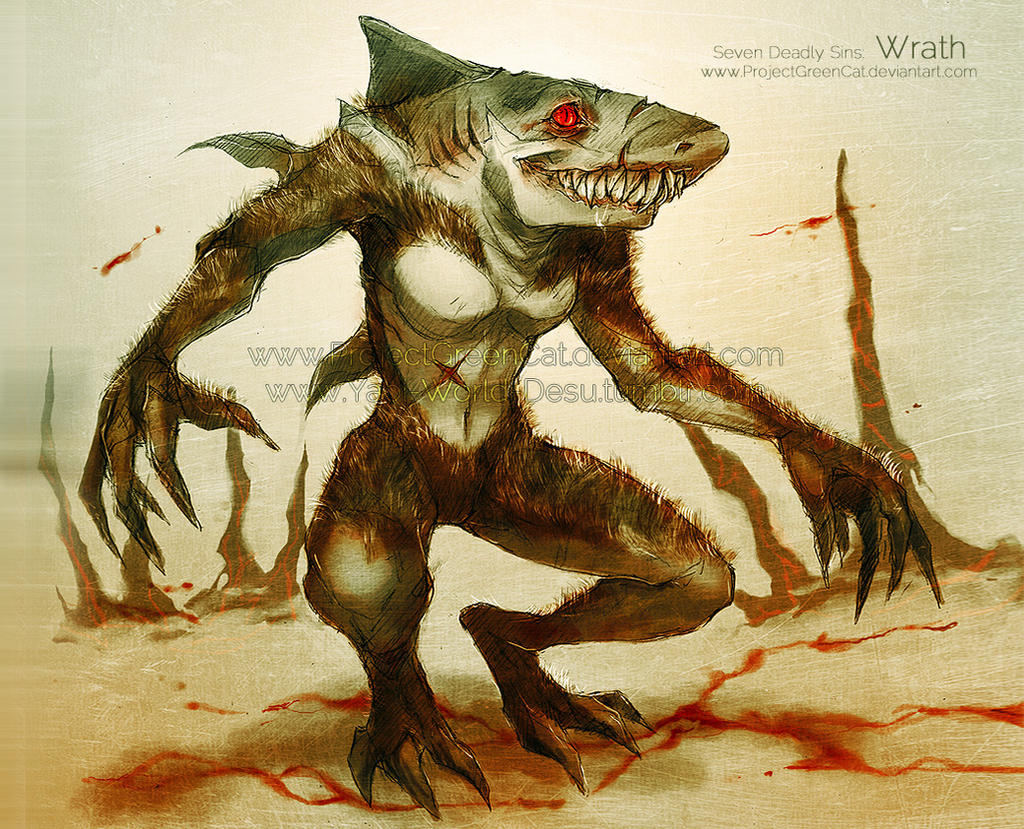 Commission: Seven Deadly Sins: Wrath by KodamaCreative