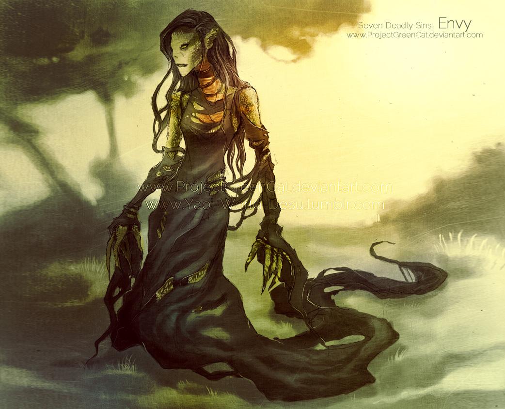 Commission: Seven Deadly Sins: Envy by KodamaCreative