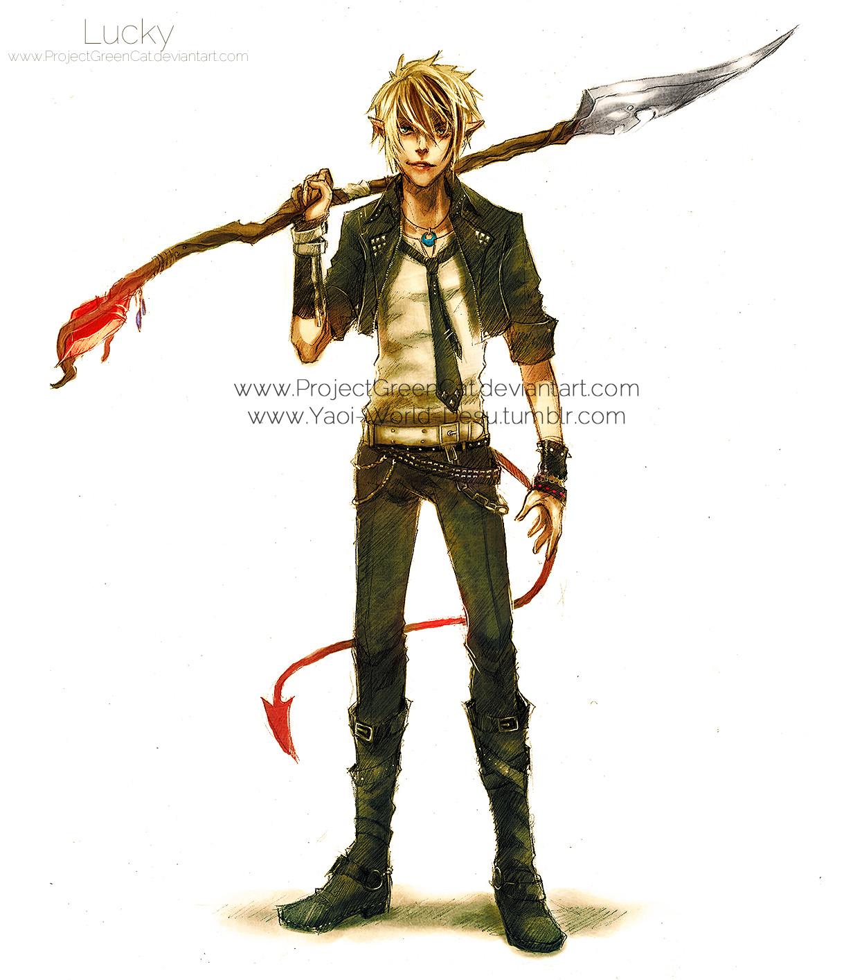 Anime Characters Full Body : Fullbody commission lucky by kodamacreative on deviantart
