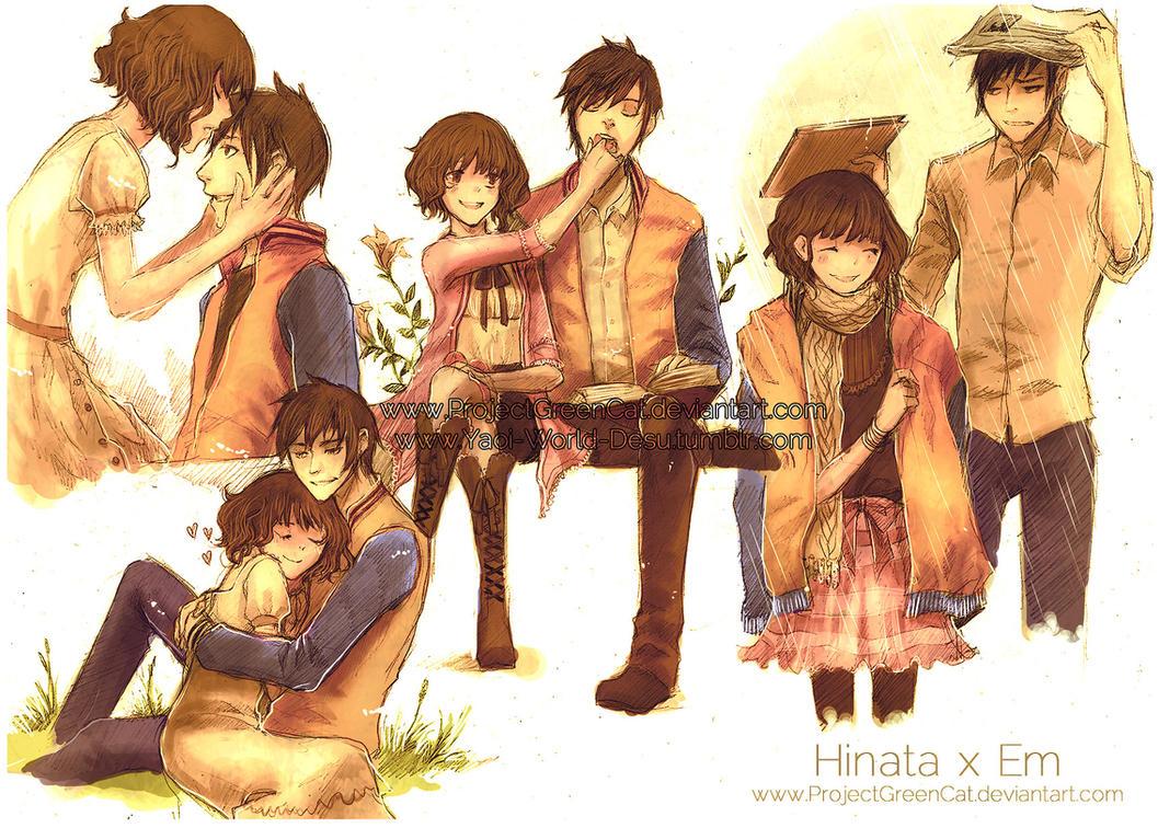 Couple SketchSheet Commission: Hinata x Em by KodamaCreative