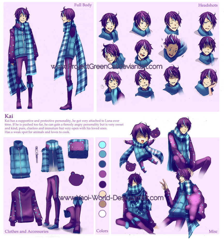 Character Sheet Commission: Kai by KodamaCreative