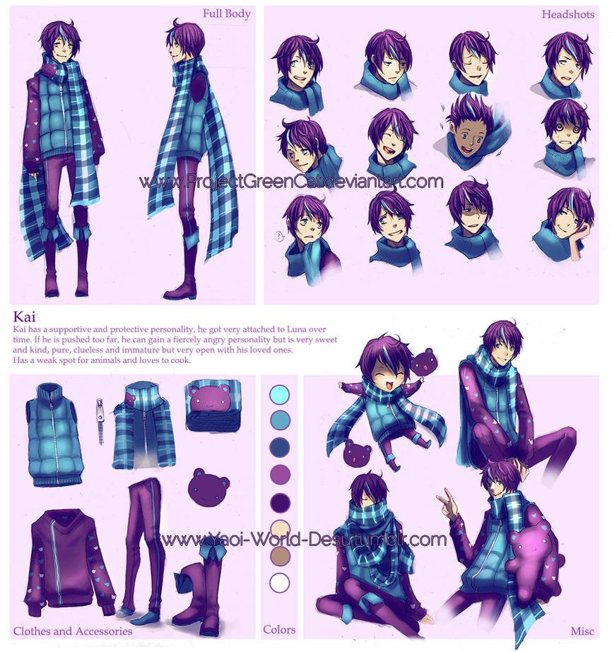 Character Sheet Commission: Kai by KodamaCreative