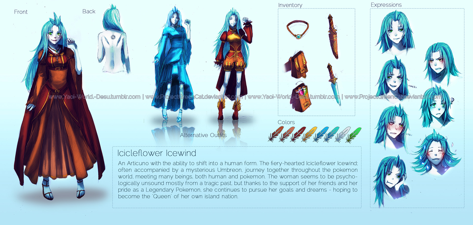Character Design Profile : Character profile small commission icicleflower by