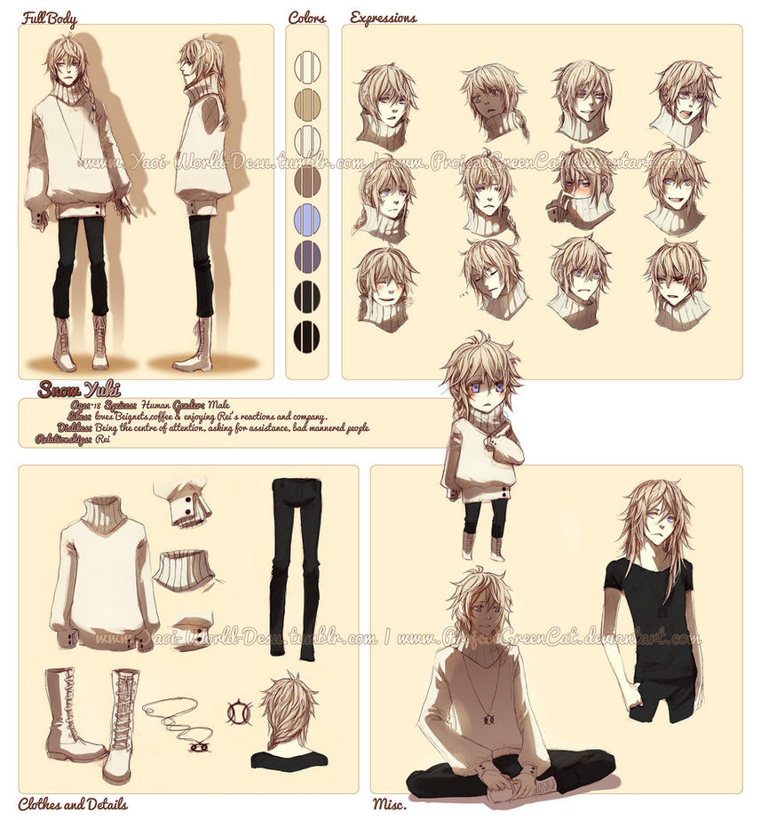 Character Profile Commission: Snow (Yuki) by KodamaCreative