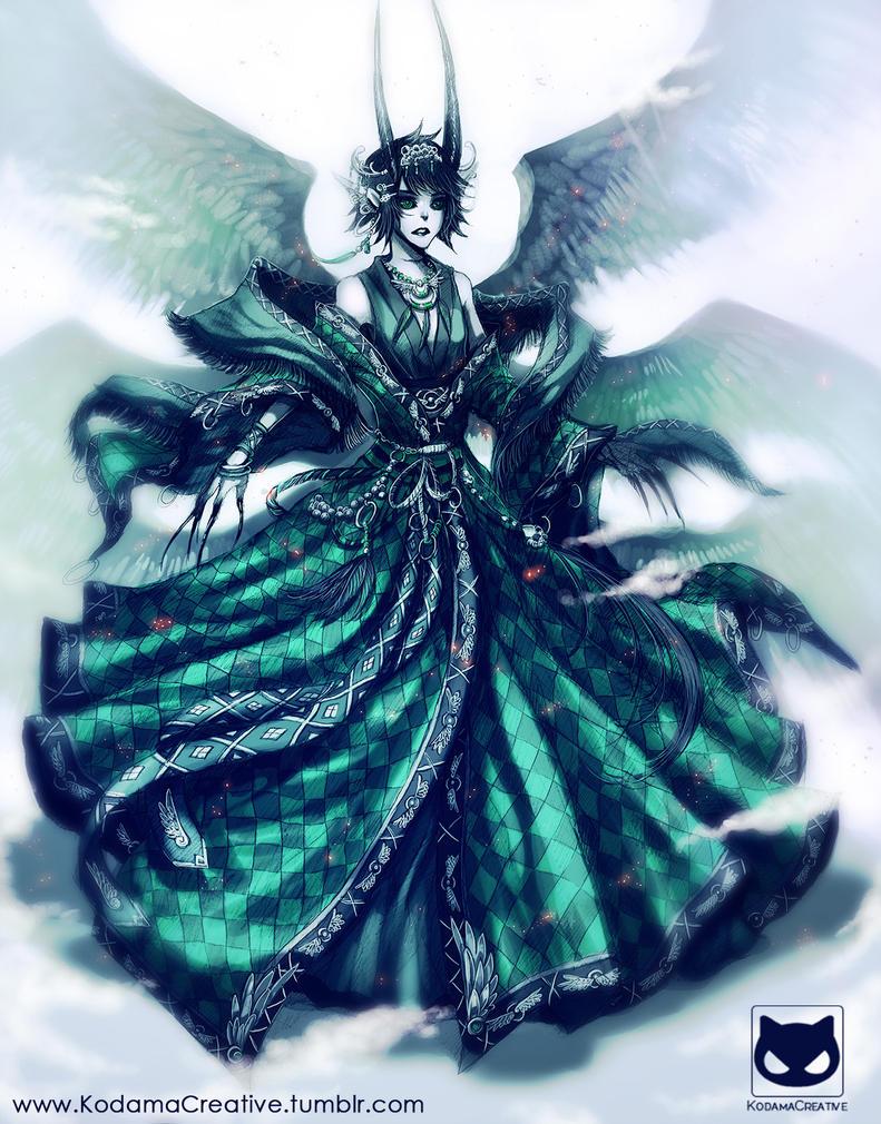 Custom Adoptable Design Commission: Demon Noir by KodamaCreative