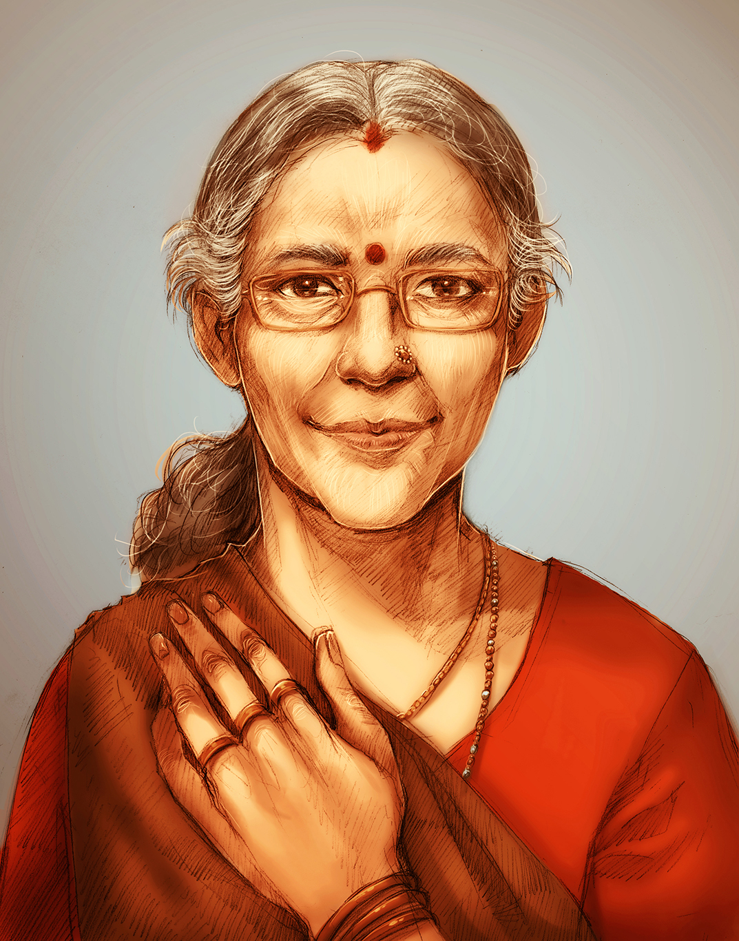 Commission Portrait: Jashodaben by KodamaCreative