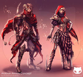Commission Custom Concept Design : Arabian Armors