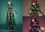 Commission Custom Concept Design : Female Lancer