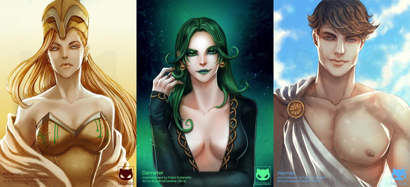 Commission: Greek Gods by KodamaCreative