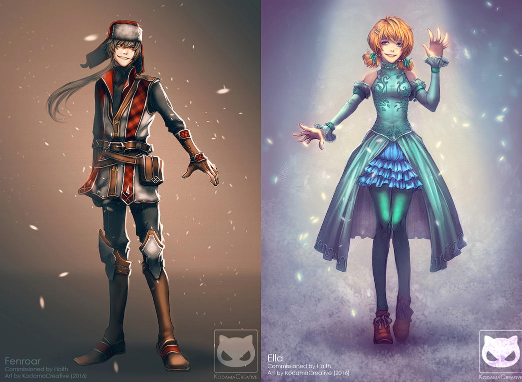 Commission: Fenroar and Ella by KodamaCreative