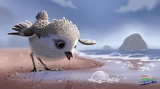 Pixar's Pipper by BetaDraws