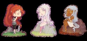 :COM: Three little girls by A-nako