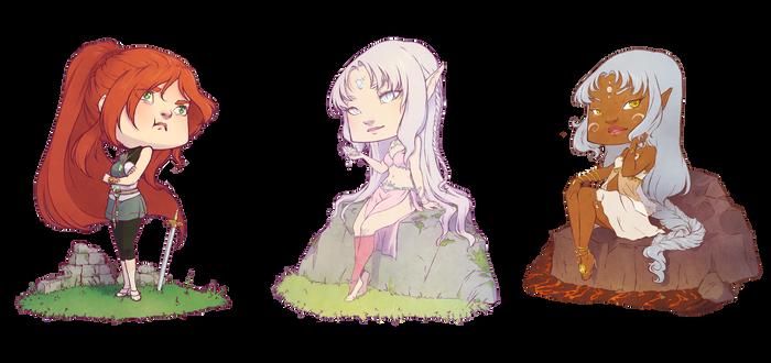 :COM: Three little girls