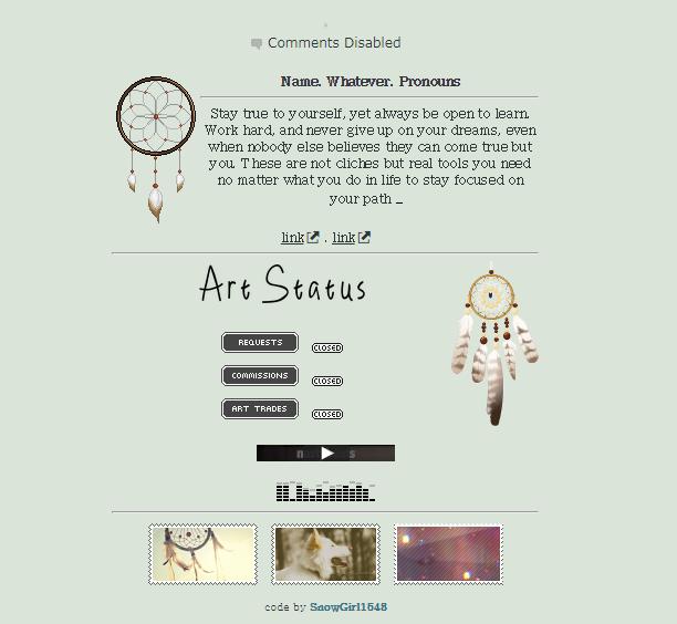 dreams | non-core code f2u by SnowGirl1548