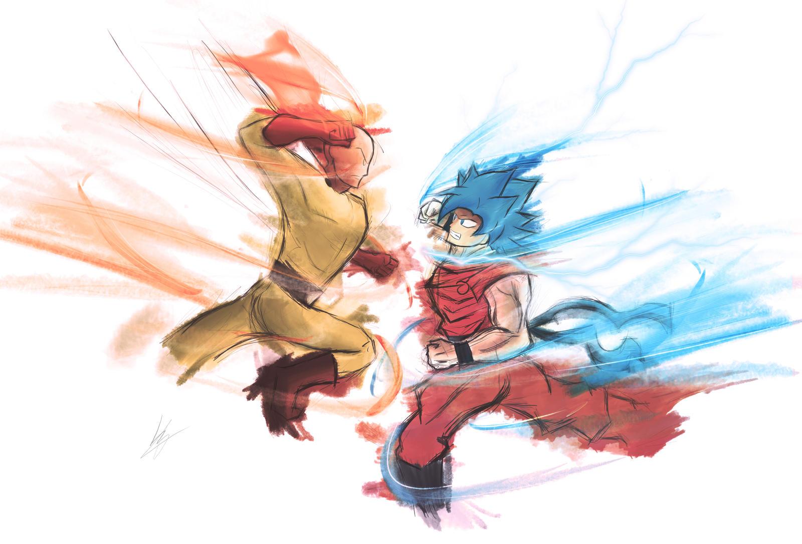 Saitama vs Goku / 4k / One Punch Man / DBZ Super by izhan ...