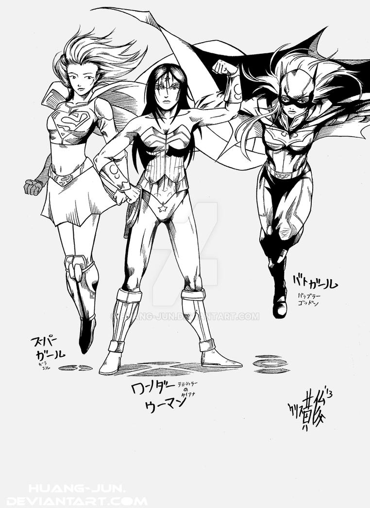Wonder Woman and Birds of Prey by Huang-Jun