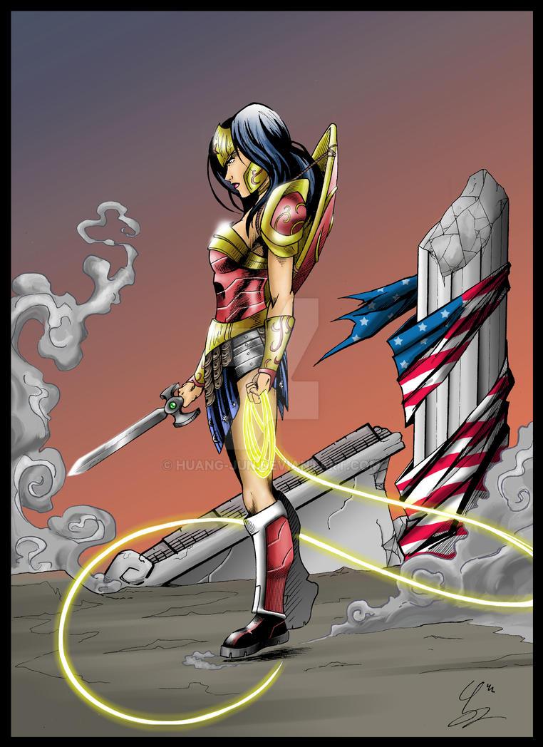 Wonder Woman - The War Goddess by Huang-Jun