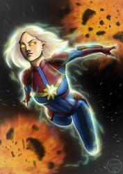 Captain Marvel by Huang-Jun