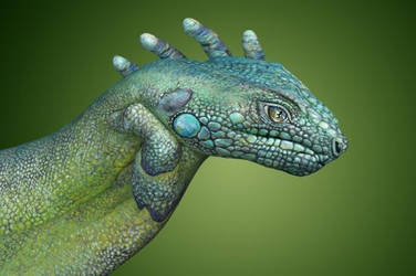 Lizard- Hand painting by MartinZethos