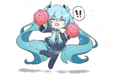miku is chering for u! by NintenDash