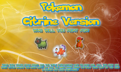 New Pokemon Citrine Logo