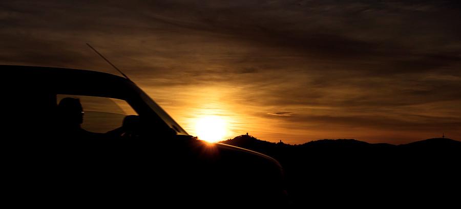 Sunset car by BennyBrand