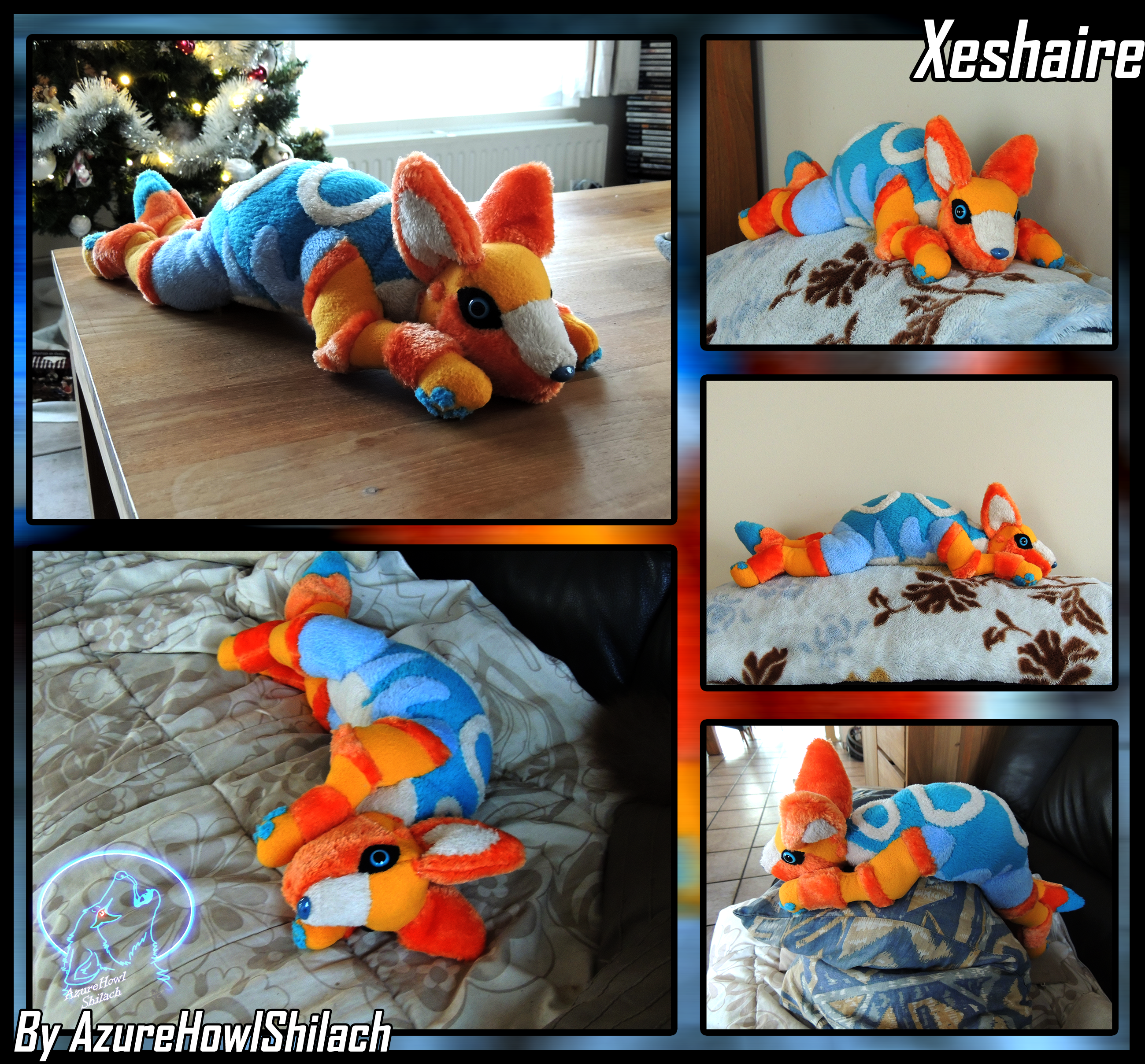 Commission Xeshaire plush by AzureHowlShilach