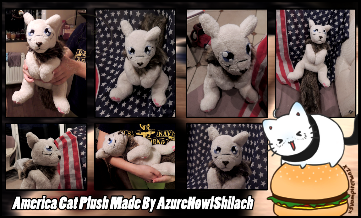 Nekotalia America Cat Plush ( SOLD ) by AzureHowlShilach