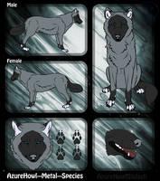 Metal wolf species - AzureHowl by AzureHowlShilach