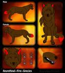 Fire wolf species - AzureHowl by AzureHowlShilach