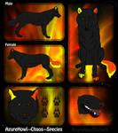 Chaos wolf species - AzureHowl by AzureHowlShilach
