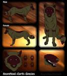Earth wolf species-AzureHowl by AzureHowlShilach