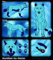 Ice wolf species - AzureHowl by AzureHowlShilach