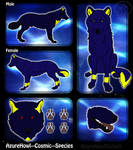 Cosmic wolf species - AzureHowl