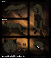 Mud wolf species - AzureHowl by AzureHowlShilach