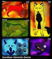 Elemental wolf species - AzureHowl by AzureHowlShilach