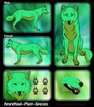 Plant wolf species - AzureHowl