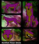 Poison wolf species - AzureHowl