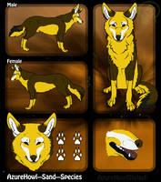 Sand wolf species - AzureHowl by AzureHowlShilach