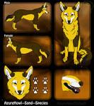 Sand wolf species - AzureHowl