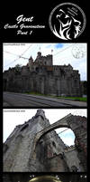 Castle GravenSteen part 1 by AzureHowlShilach