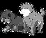 YCH  baby puppy batch 2 - Kasai and Kiriko